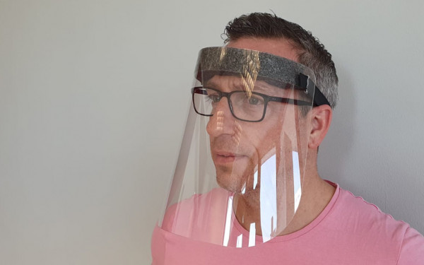 Gesichtsschutzmaske Klassik | mit Stirnpolster | unbedruckt