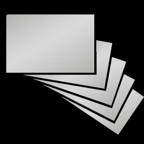 Visitenkarten | Silber | einseitig